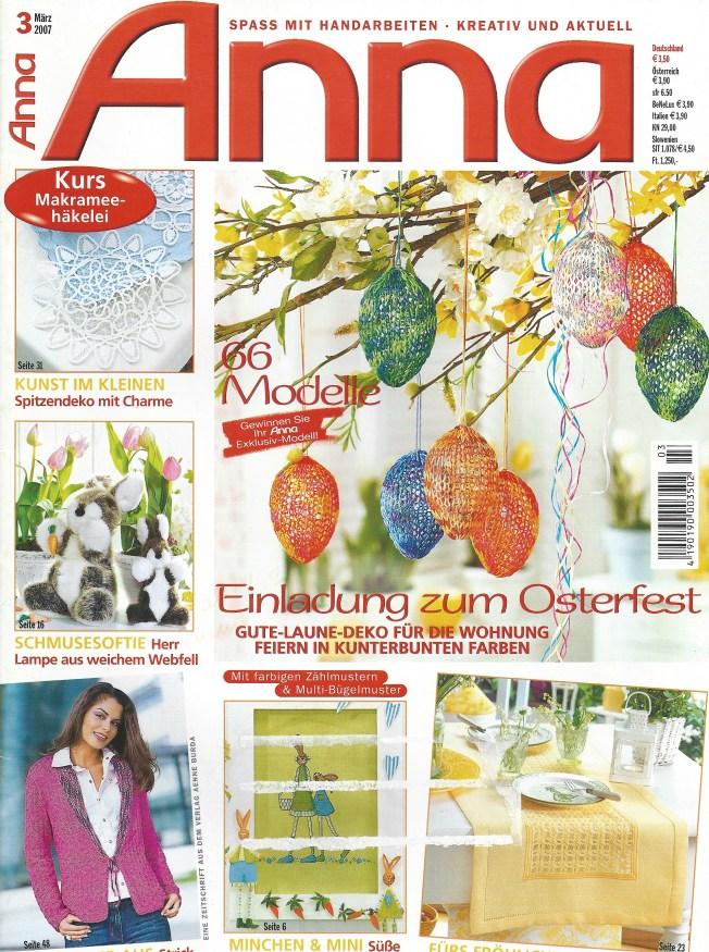 cover of Anna Burda March 2007