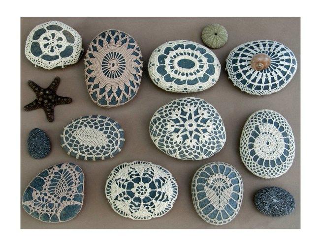 crochet rocks