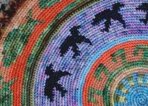 tapestry crochet mat