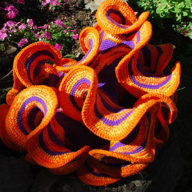 One of Dr. Daina Taimina?s crocheted hyperbolic planes