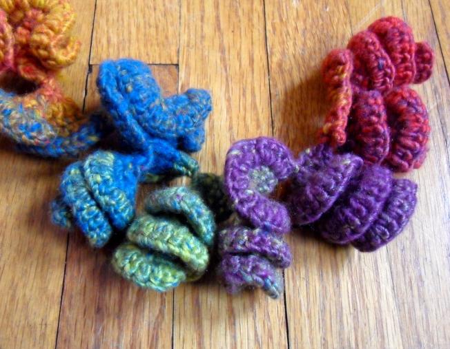 Hyperbolic crochet sculpture in progress: Fiber Art Reflections