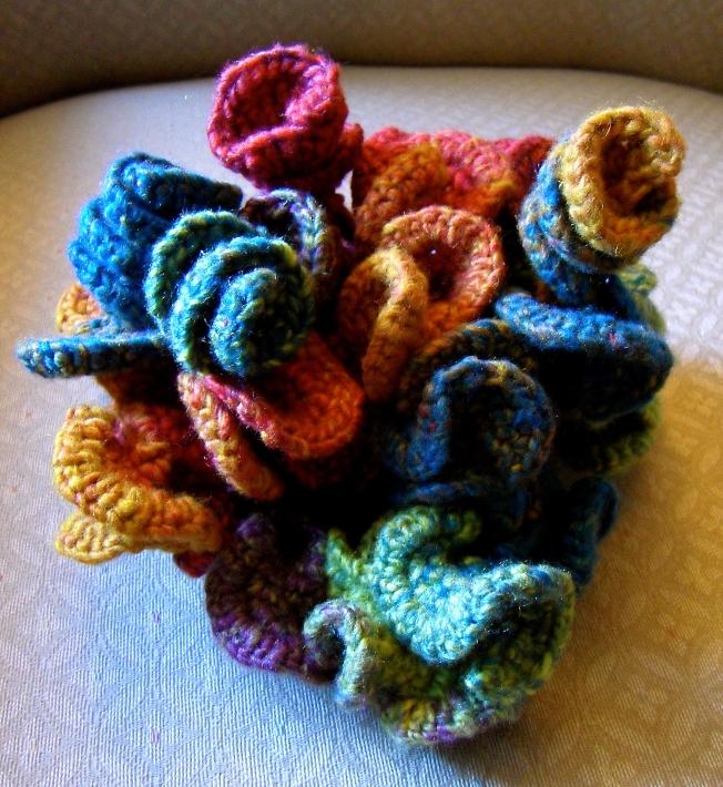 Hyperbolic crochet sculpture: Fiber Art Reflections