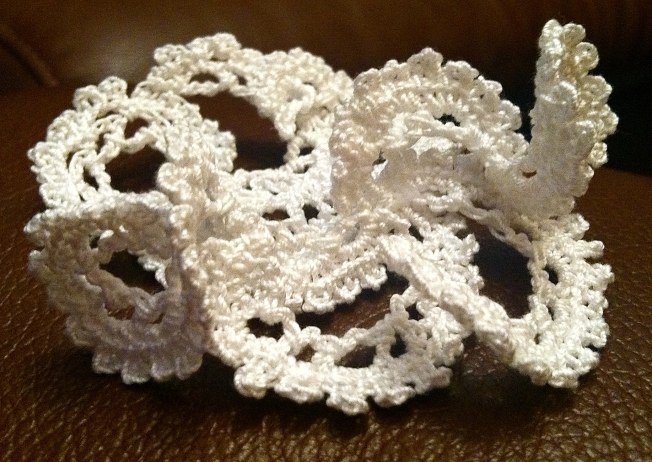 Freeform lace crochet sculpture: Fiber Art Reflections