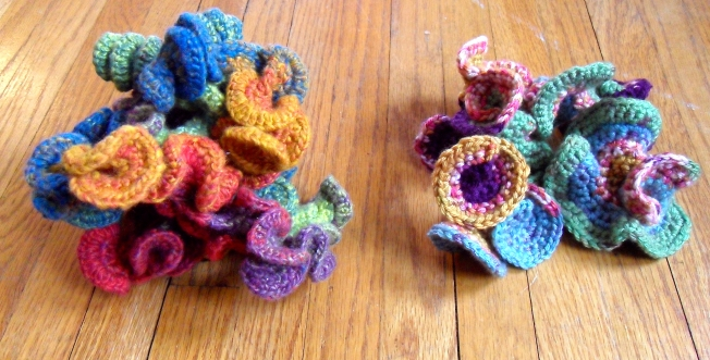 Hyperbolic Crochet Sculptures: Fiber Art Reflections