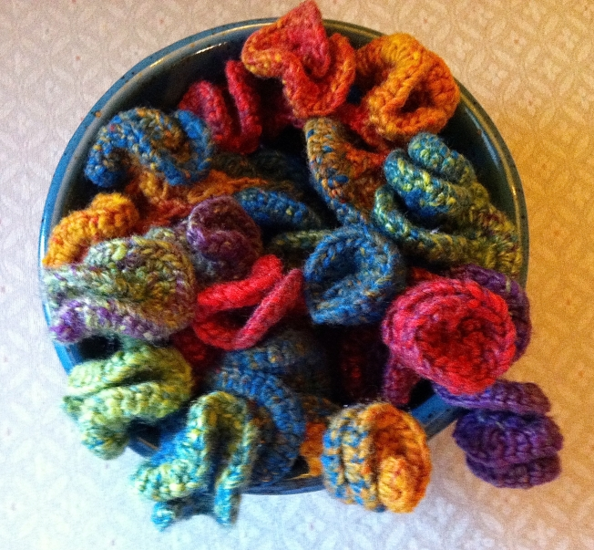 Hyperbolic crochet in a bowl: Fiber Art Reflections