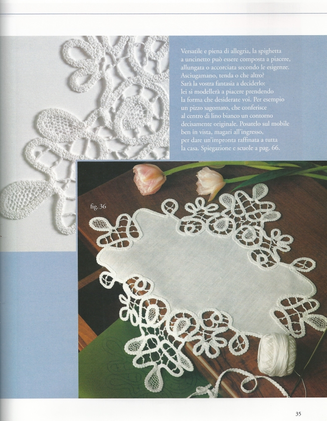 Renaissance Crochet Tape Lace on linen: Fiber Art Reflections