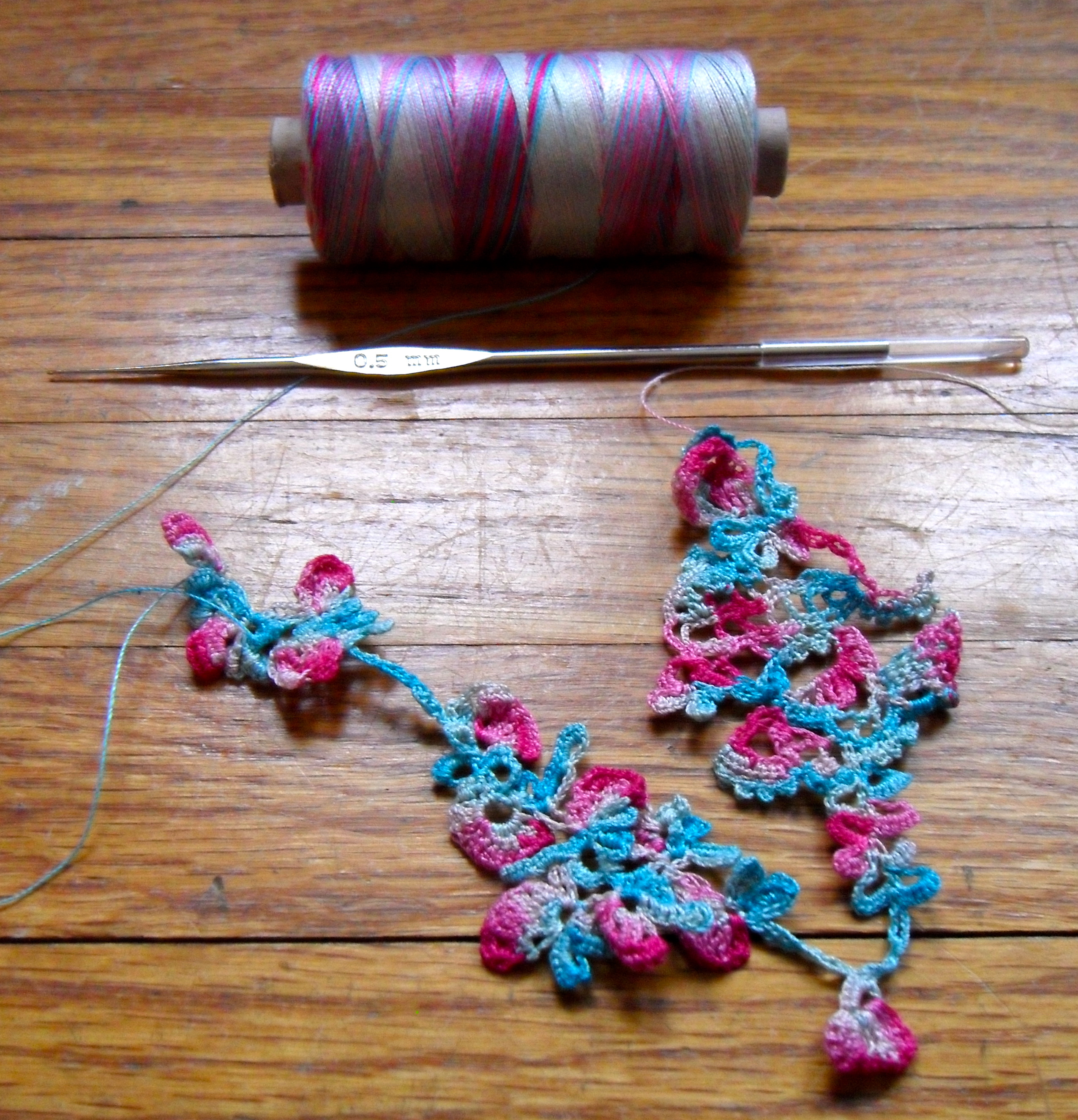 Freeform Lace Crochet with Quilting Thread | Fiber Art Reflections