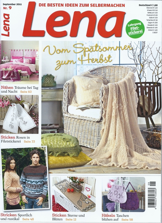 Lena Sept 2011 cover: Fiber Art Reflections