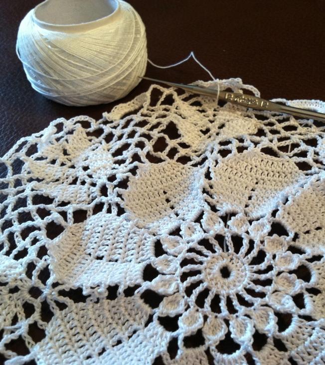 size 20 thread with number 12 steel crochet hook: Fiber Art Reflections