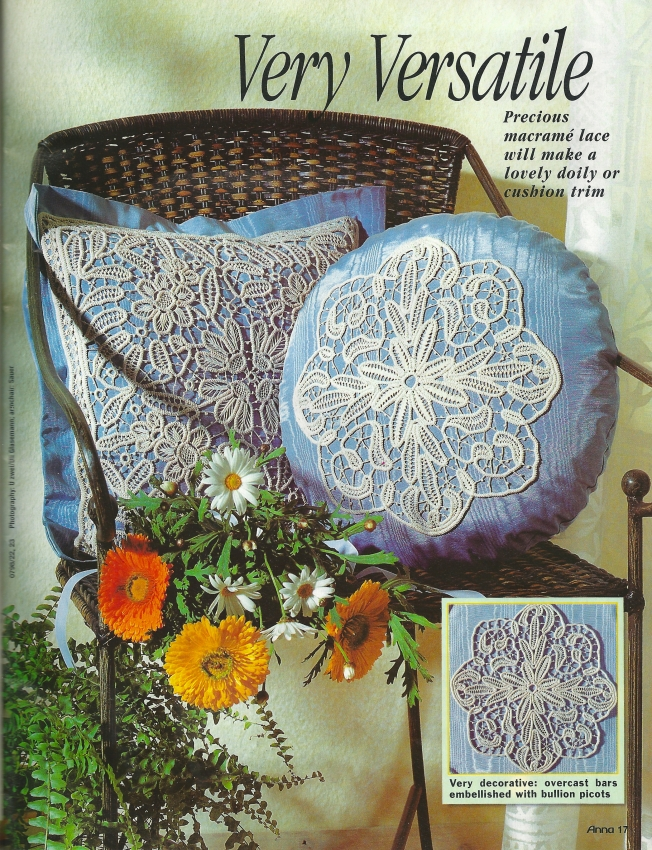 Anna Burda July 1998 - Macramé Crochet Lace: Fiber Art Reflections