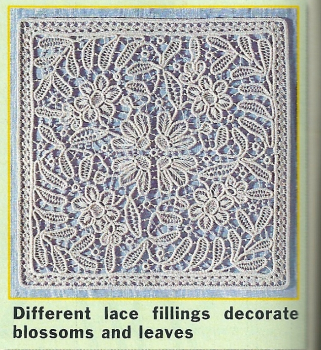 Square macramé crochet lace pillow cover: Fiber Art Reflections