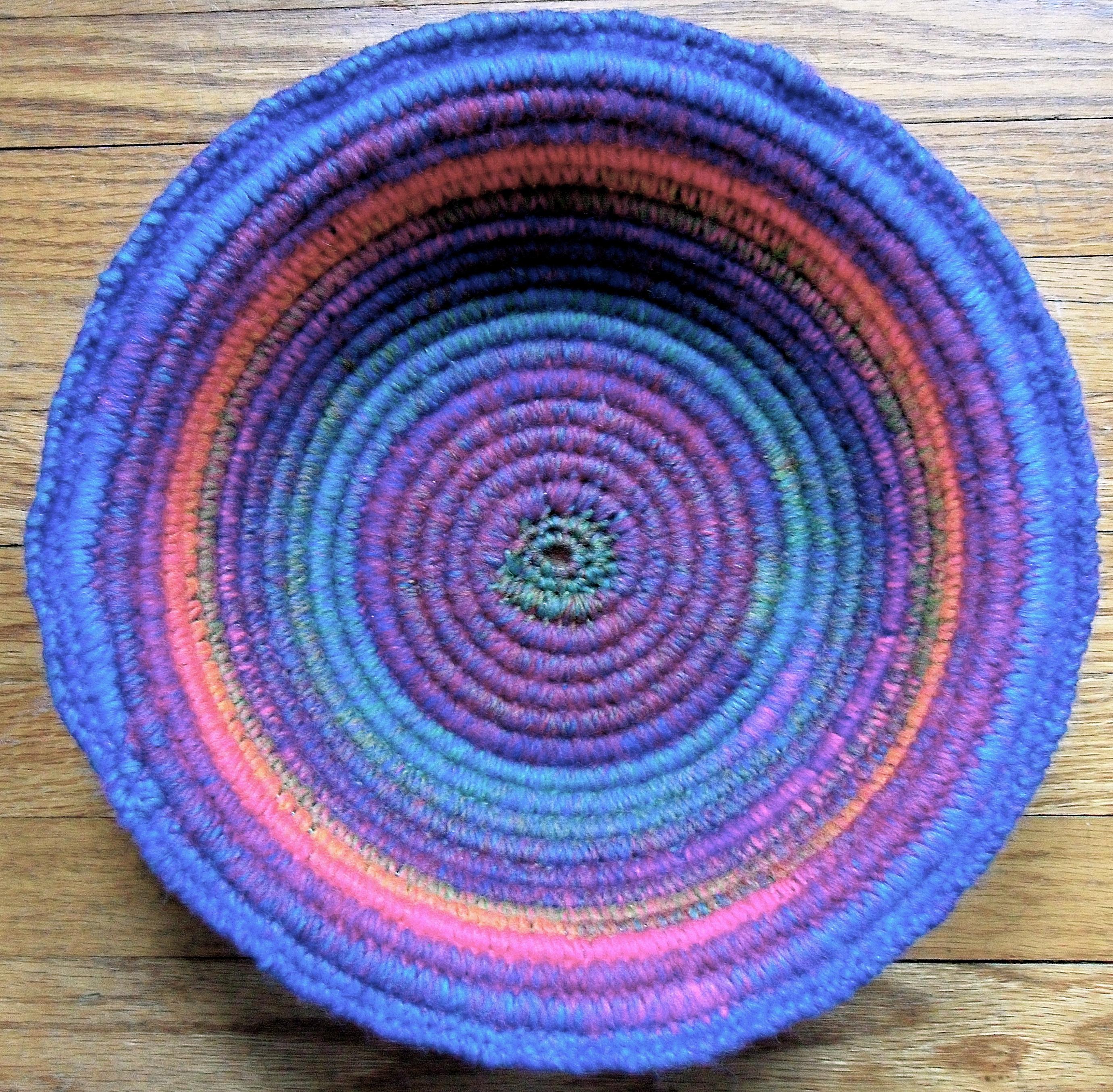 Crochet Coiled Basket Experiment Fiber Art Reflections