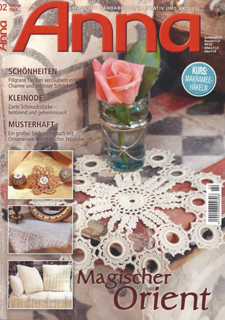 Cover February 2011 Anna Burda: Fiber Art Reflections
