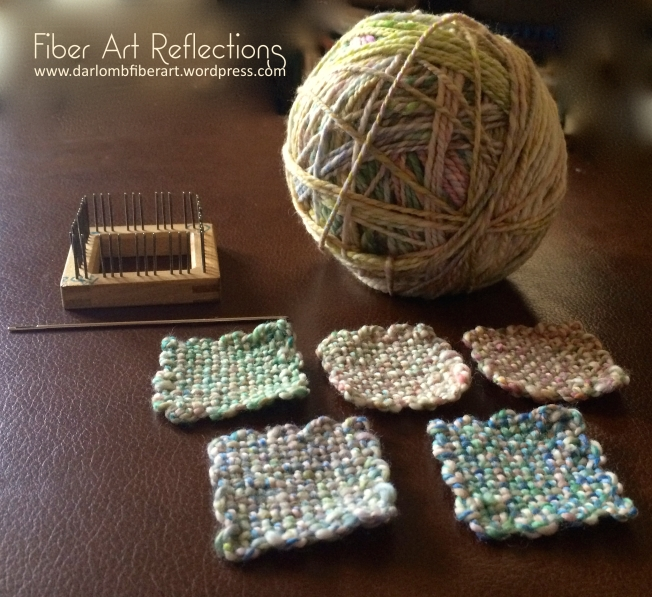 Fiber Art Reflections: 2-Inch Pin Loom Squares
