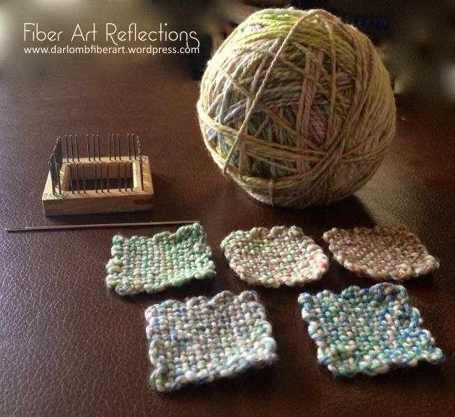 Fiber Art Reflections: 2-Inch Pin Loom Squares