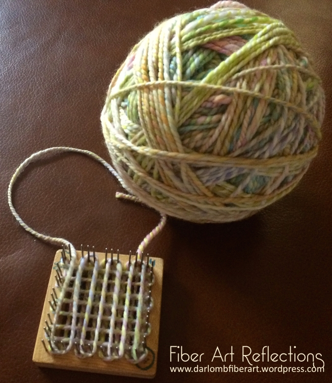 Fiber Art Reflections: 2-Inch Square Pin Loom
