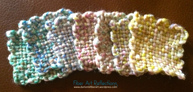 Fiber Art Reflections: 2-Inch Woven Pin Loom Squares