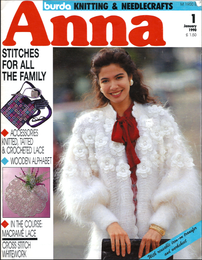 Fiber Art Reflections: Anna Burda magazine cover, January 1990