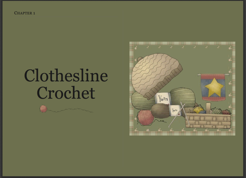 Clothesline Crochet Tutorial PDF - click on image