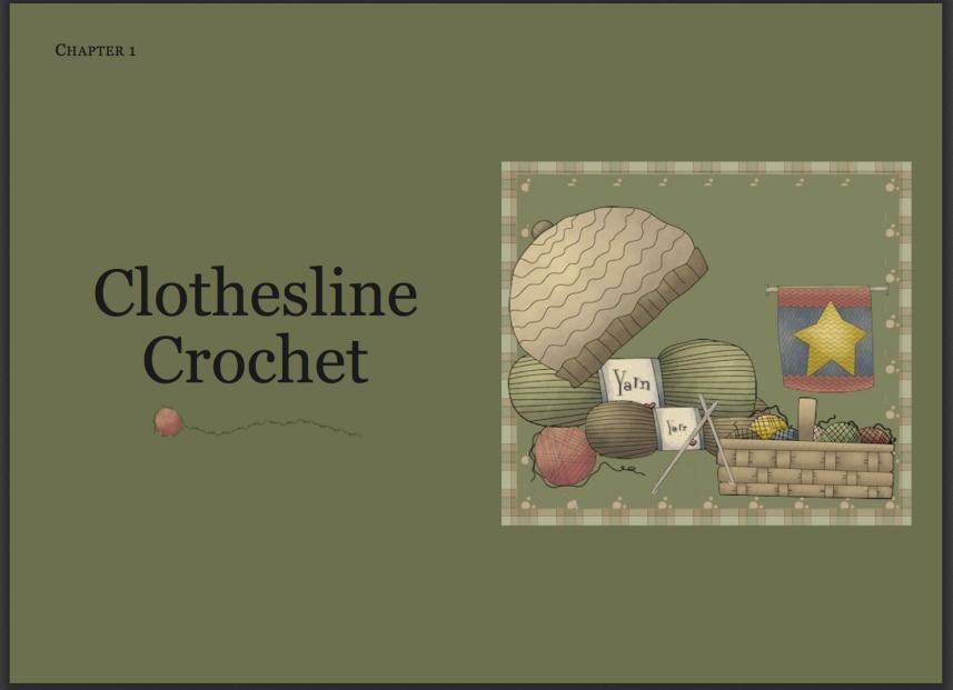 Clothesline Crochet Tutorial PDF - click on image