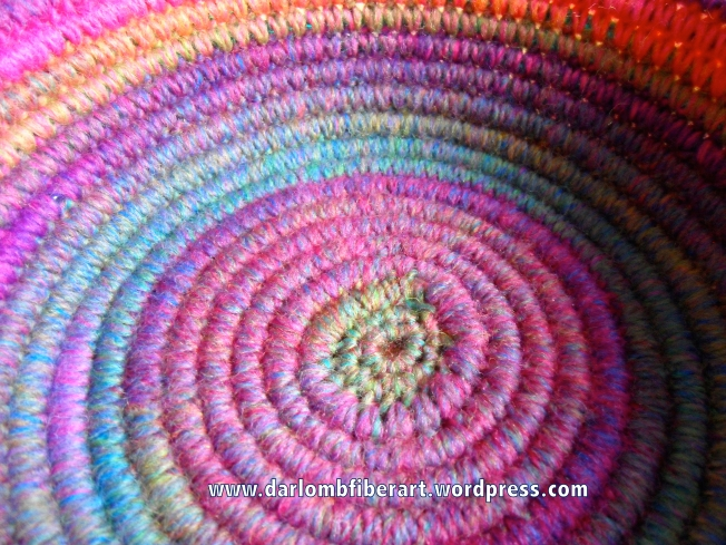 Crochet Coiled Basket Close-Up