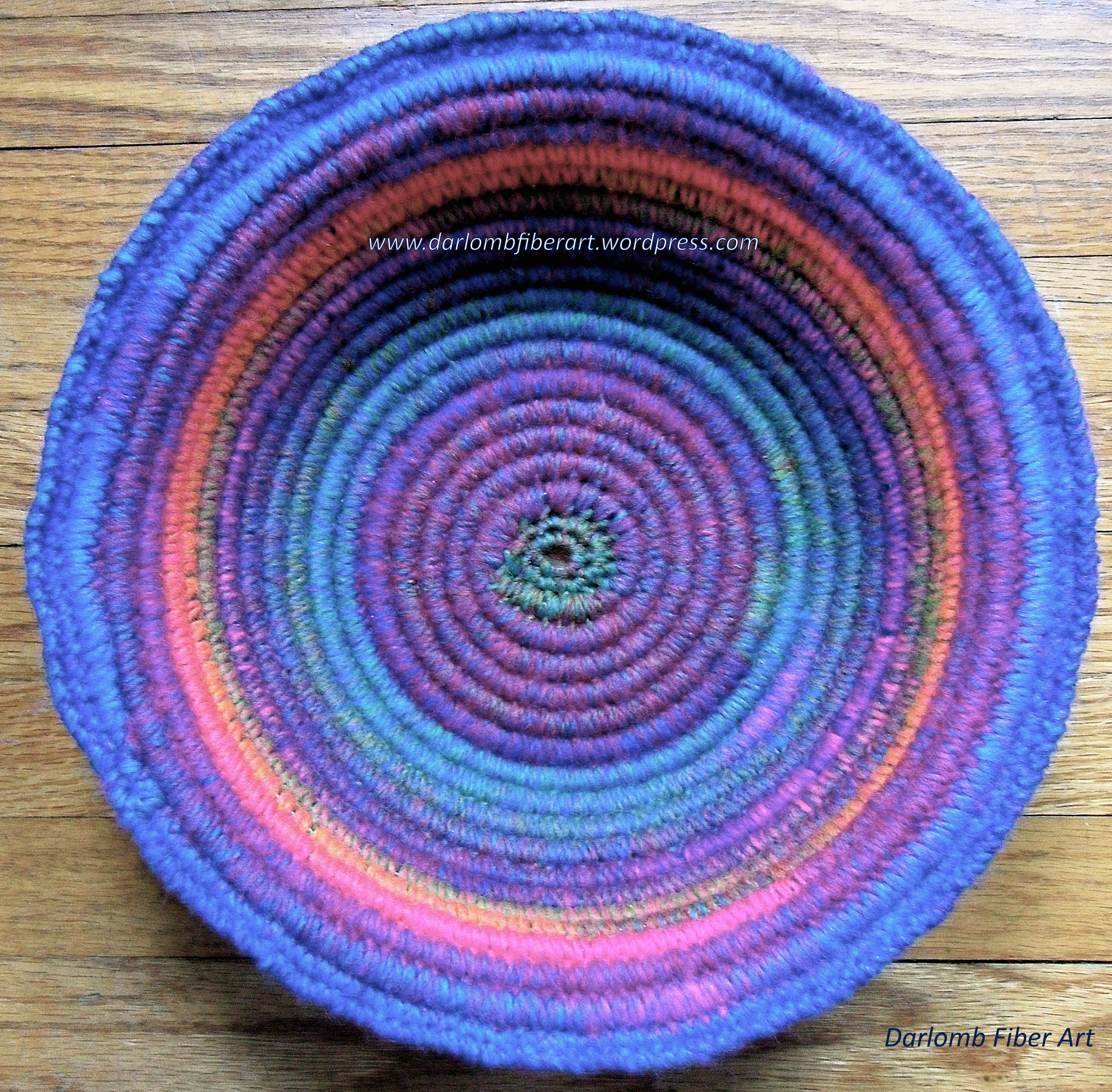 How To Make A Woven Yarn Basket : Crochet coiled basket guidelines ideas fiber art