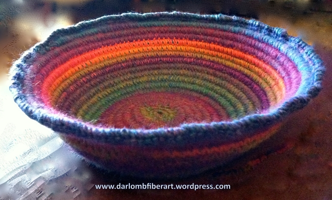 Coiled Crochet Bowl