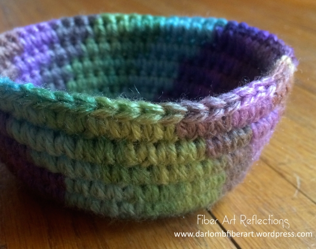 Fiber Art Reflections: Small Crochet Coiled Basket Tutorial