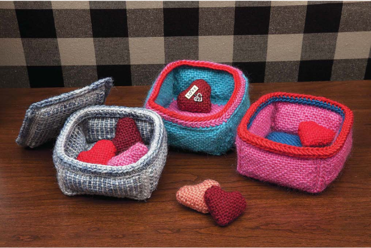 Soft bowls from Pin Loom Weaving by Margaret Stump