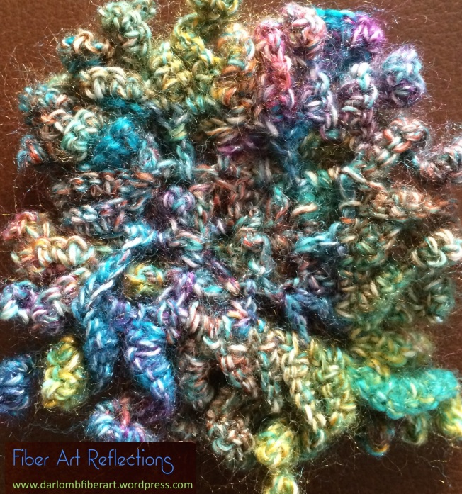 FIber Art Reflections: Underside of Curlicue Freeform Crochet Mat