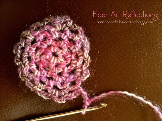 Fiber Art Reflections: Round crochet mesh base for freeform crochet