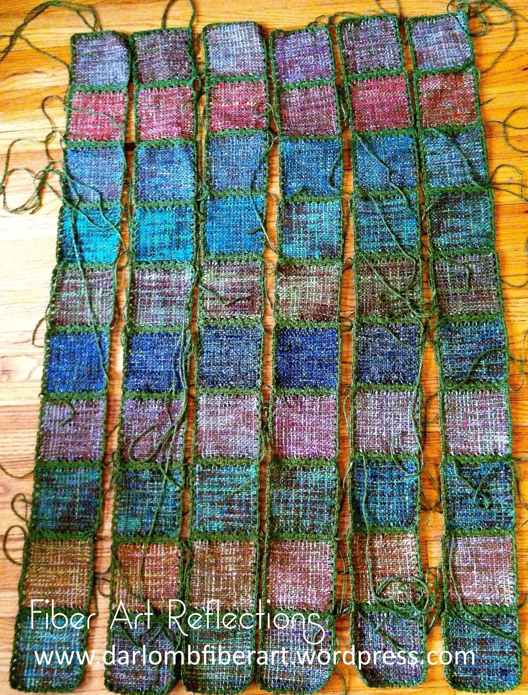 Knitting Blanket Strips : Pin loom blanket fiber art reflections