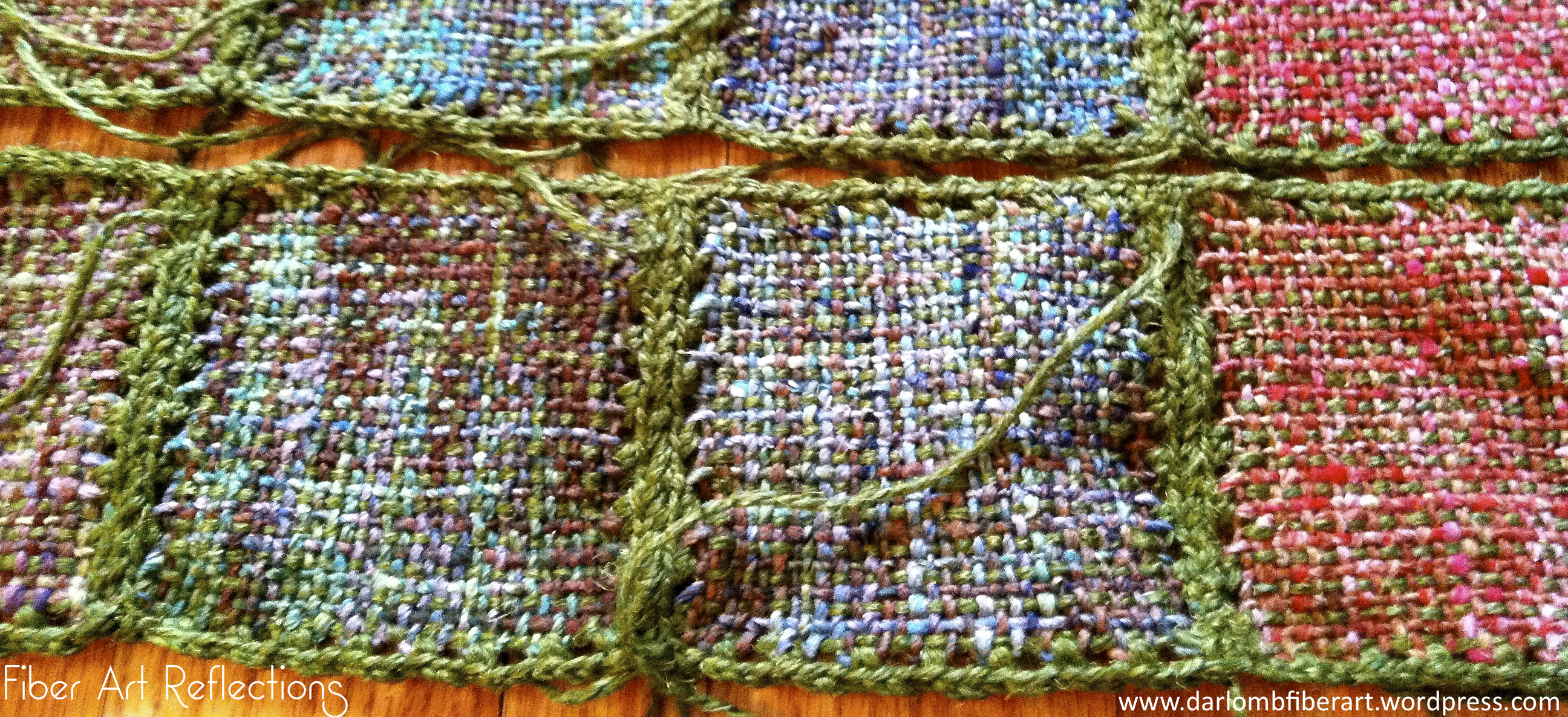 Crocheting On A Loom : Fiber Art Reflections: Connecting Pin Loom Squares with Crochet