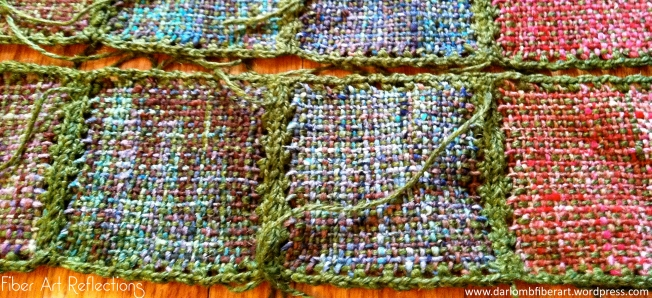 Fiber Art Reflections: Connecting Pin Loom Squares with Crochet
